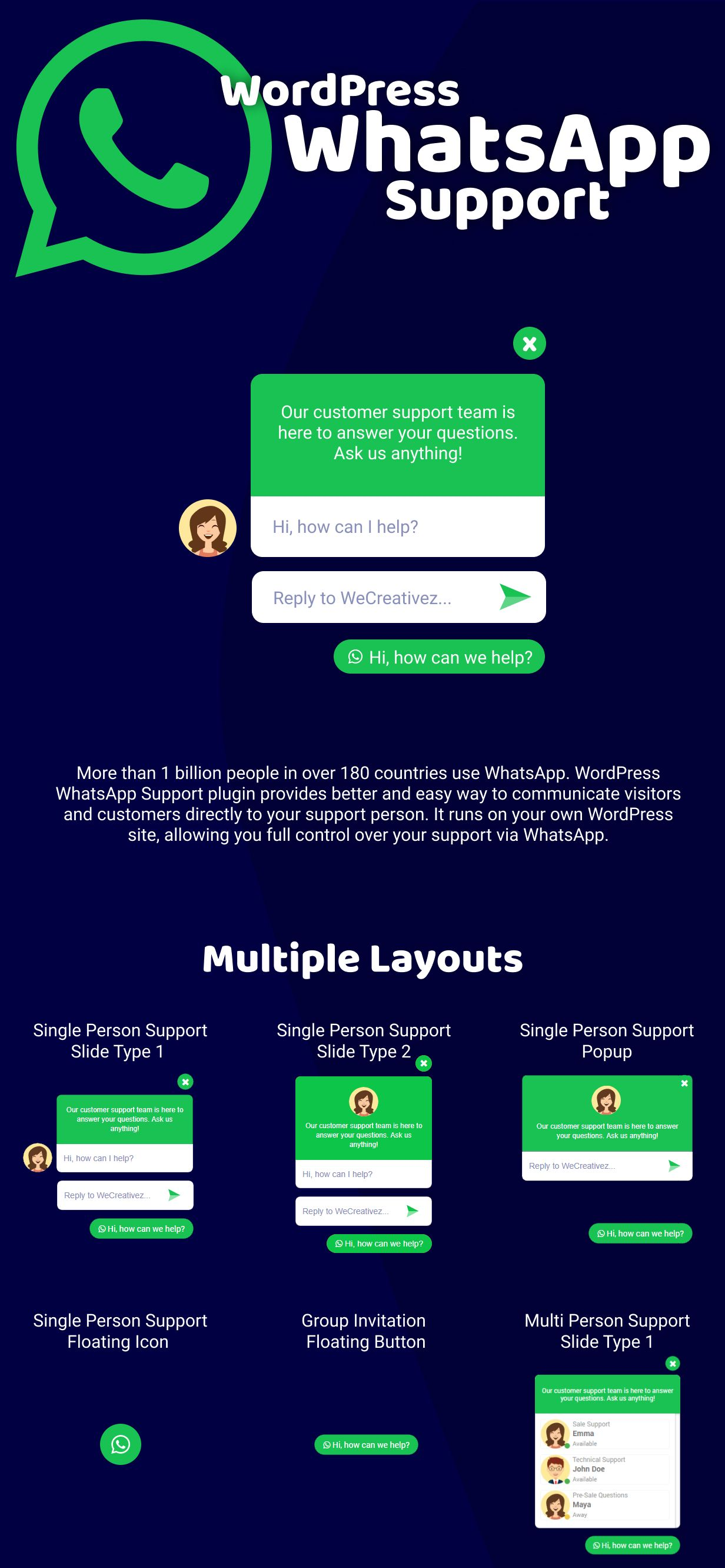 WordPress WhatsApp Support - 3